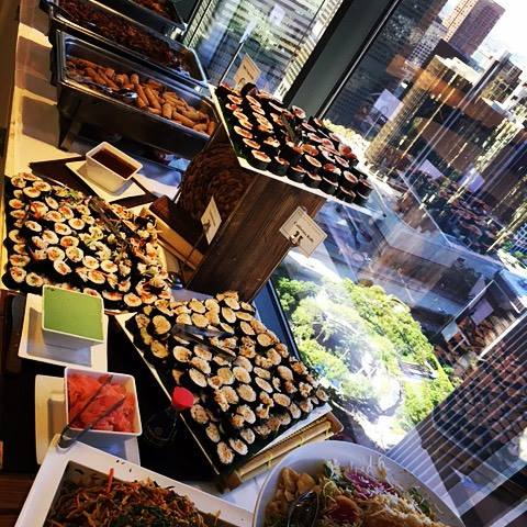 Corporate Luncheon Buffet with LA City View