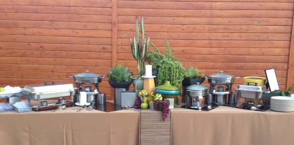 buffet with succulent decor