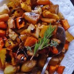 apricot honey glazed veg