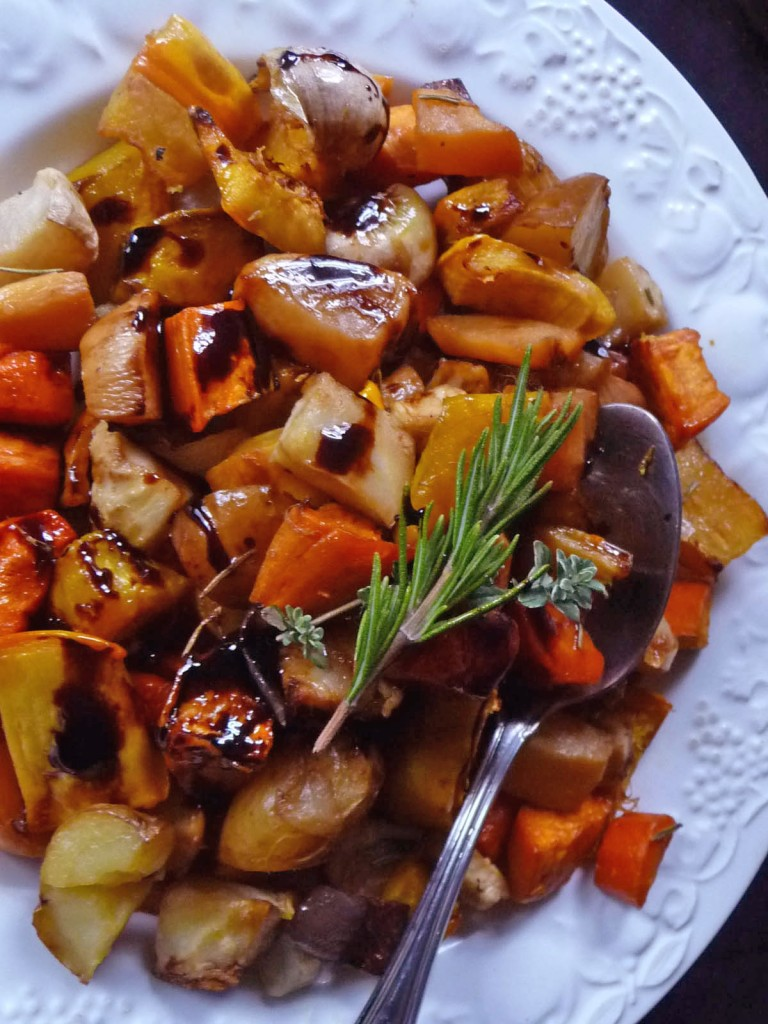Apricot-Honey Glazed Roasted Root Vegetables
