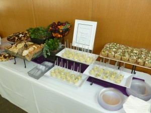 Maya Kiddush food buffet
