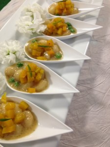 Tessa Lyn Events 1 baby gnocchi with butternut squash, fresh peas and creamy sage sauce
