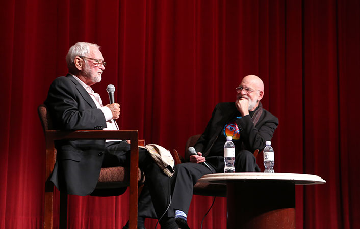 Director Norman Jewison speaks with DGA Special Projects Committee Chair Jeremy Kagan